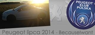 Peugeot miesiąca - Lipiec 2014