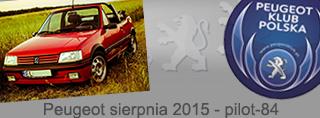 Peugeot miesiąca - Sierpień 2015